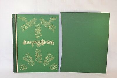 Leaves of Grass - Walt Whitman - ¼ Leather - Folio Society 2009 (E) First Ptg