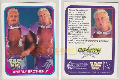 Merlin Trading Cards WWF 1991 - BEVERLY BROTHERS - 26/150 - Italiana