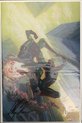 (2018) AMAZING SPIDERMAN #798 1:100 SIGNED BY ALEX ROSS Virgin Variant Cover!