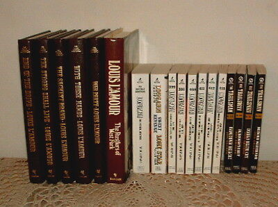 Lot of 18 Western Books Louis L'Amour Leather, LONGARM + TRAILSMAN Paperbacks