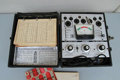 Seco Tube Tester Model 88 USA Collectible Tool Radio Test Equipment with charts