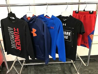 Under Armour Mixed Clothing Lot of 5 / Size Youth Small /Hoodie /Shorts /Shirts