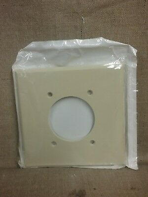 New Leviton Dryer Almond Outlet Wall Plate Cover 80526-l - Qty 1