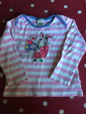 Frugi age 2-3 cute mouse t-shirt