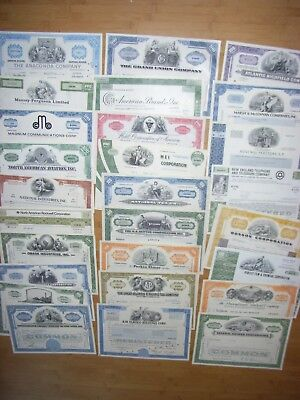 USA: Lot of 102 diff USA/CDN share & small size bond certificates, 1930s - 1990s
