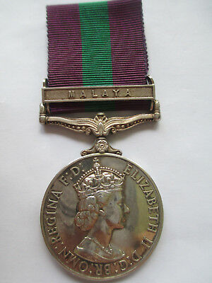 WRAC - WOMEN'S ROYAL ARMY CORPS. General Service 1918-62, Clasp, Malaya. HEWITT