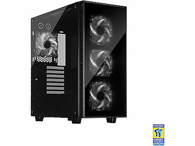 Rosewill Gaming Computer PC Case, ATX Mid Tower, White LED Fans, CULLINAN-WHITE