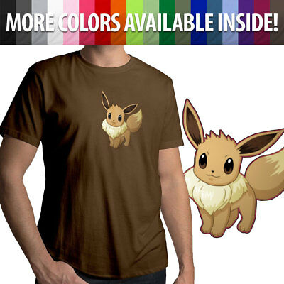 ca35fda3 Eevee Starter Pokemon Cute Go Kawaii Nintendo Gamer Mens Tee Crew Neck T -Shirt