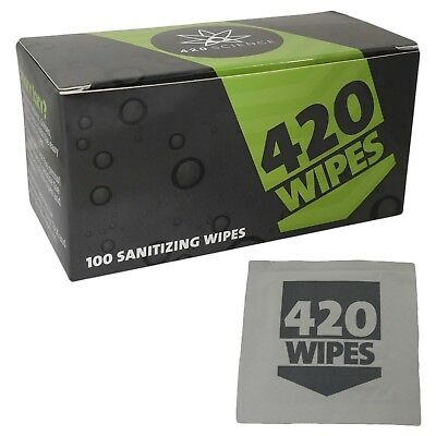 420 Wipes 100 Pack Sanitizing Wipes Pipe Cleaner 420 Science New