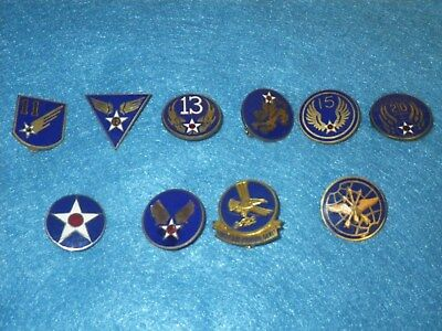 Original WWII US Army Patch DI Set -10 Items - All Different - Lot AAF B