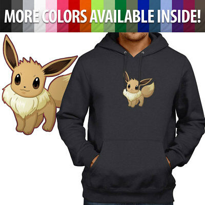 77331aea Eevee Starter Pokemon Cute Go Kawaii Gamer Pullover Hoodie Jacket Hooded  Sweater