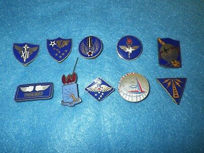 Original WWII US AAF Patch DI Set -10 Items - All Different - Lot AAF C
