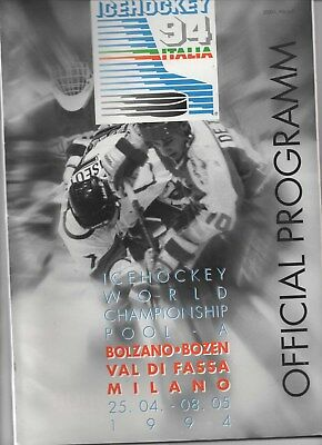 Apr 94 Ice Hockey World Championship Pool A GB in top division