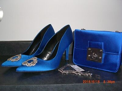 LADIES SPECIAL OCCASION  SHOES  size 6 with matching BAG by Marks and Spencer