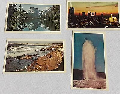 4 American Oil Co Postcards American Scene Collection Amoco Lot 1969