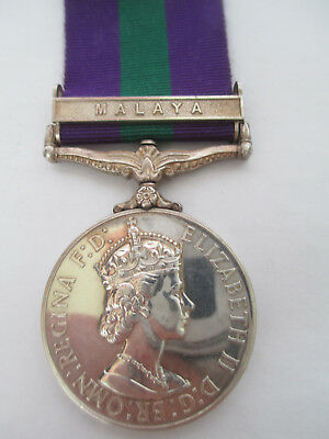 General Service Medal. 1918-62. 1 Clasp. Malaya - 734736.  A.C. 1. Ariffin