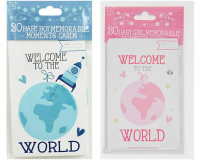30 Memorable Moments Baby Milestone Cards Girl or Boy New Baby Shower Gift