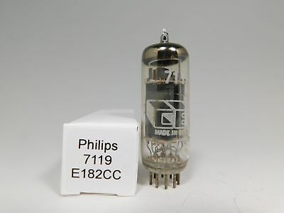 Philips (CEI) 7119 E182CC Vintage 1964 Tube Gray Plates Round Getter (Test 104%)