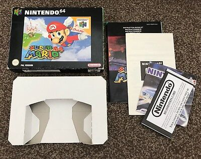 N64 * Box & Manual Only * * Mario 64 Nintendo 64 UKv PAL