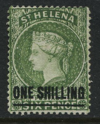 St.Helena QV 1894 1/ on 6d yellow green mint o.g.