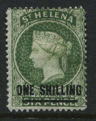 St.Helena QV 1883 1/ on 6d yellow green mint o.g.
