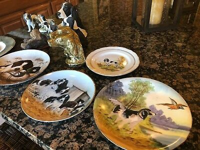 Springer Spaniel plates and figurines for dog lovers