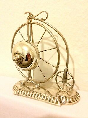 Immensely Rare Antique WMF Penny Farthing Silver Plated Desk or Servants Bell