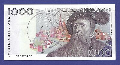 Gem Uncirculated 1000 Kronor 1992 Banknote From Sweden !!!
