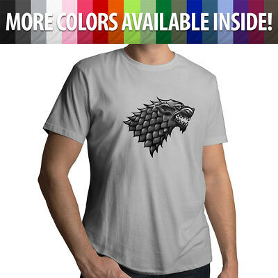 Game of Thrones House Stark Sigil Direwolf Mens Tee Crew Neck Unisex T-Shirt