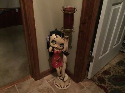 Vintage-Betty-Boop-Rare-Large-Lamp-Pole-Statue-Figurine-Candle-Holder