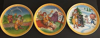 McDonalds Plates 1977-Spring, Fall & Winter Plates