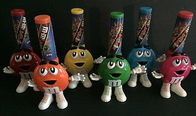 M&M's Mini's Candy Dispensers-6pc Complete Set-1998 Great condition!!!