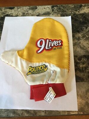 Vintage 9 Lives Cat Food Premium Morris Mitten Cat Petting Glove