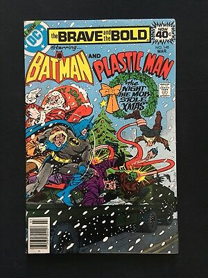 The Brave And The Bold #148! Plastic Man Appearance! Christmas Cover! 1979! Fn!