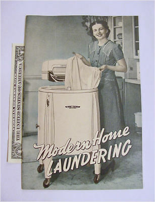 Speed Queen Modern Home Laundering Booklet 36 pages - NR 1948 - Leaver Bros.
