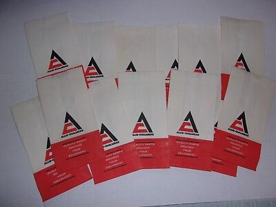 Scarce Vintage Lot of Fifteen ( 15)  Allis Chambers Small Advertising Parts Bags