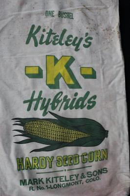 Kiteley & Sons Hybrid Seed Corn Sack Bag Longmont Colorado Colo Co Sign