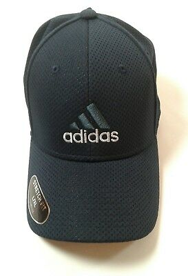 7e9aee87 Men's Adidas Stretch Fit Climalite Baseball Cap/Hat Size L/XL Blue/Silver