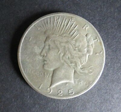 US 1925 P Peace Silver Dollar Nice Circulated Condition