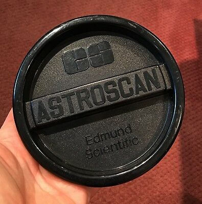 Edmund Scientific telescope reflector Astroscan 2001 front dust cover 1994 USA