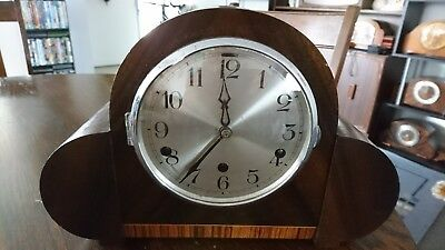 antique clock Fontenoy made in France. With key.