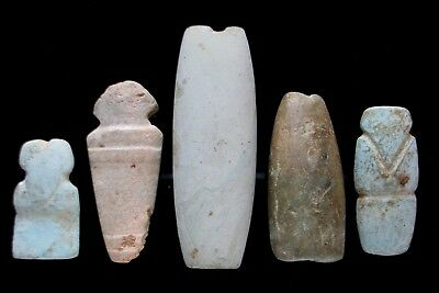 Pre-Columbian Figural and Tubular Beads Central America