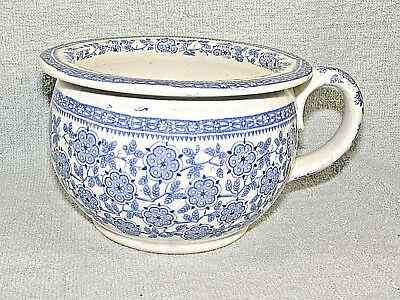 Antique Blue Transfer Ware Chamber Pot - Childs, Miniature Or Salesman's Sample