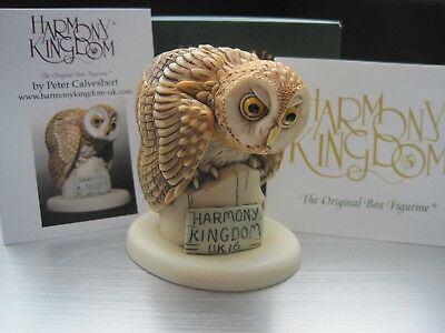 Harmony Kingdom Whoo's Coming V1 Tawny Owl 2016 Event Beautiful Pc RARE SGN