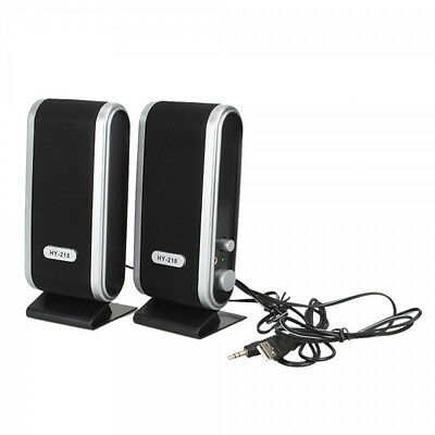 A Pair USB Power Wired Computer Speakers for Desktop PC Laptop Stereo 3.5mm Jack