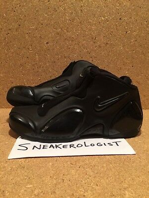 SAMPLE NIKE AIR ULTRAPOSITE SZ 9 black silver 2002 vintage rare foamposite le og