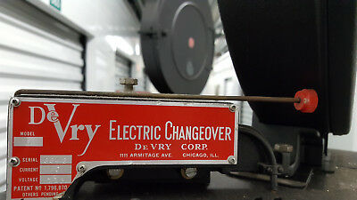 Two RESTORED DeVry 35mm XD film projector Navy Type D, w/ Electric Changeover