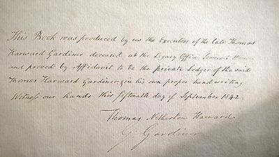 Rare Ledger 1837  With Relations To Thomas Gainsborough The Artist