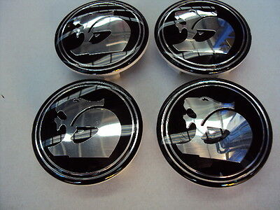 HSV WHEEL CENTRE CAPS, SET OF 4 IN BLACK  VT VX VU VY VZ VE holden