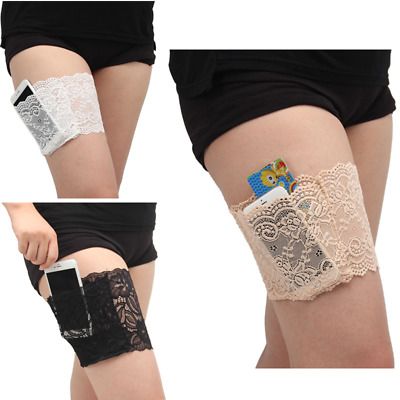 HOT Women Lace Non Slip Elastic Socks Anti-Chafing Thigh Bands Leg Warmers